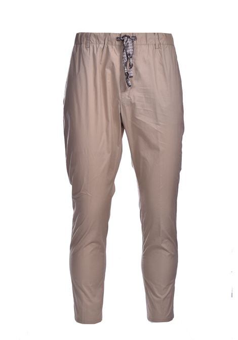 Poplin trousers with elastic DANIELE ALESSANDRINI | Pants | P3992N1006410015