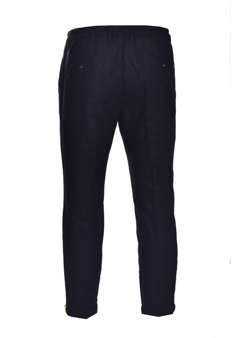 Pantaloni di lino con elastico e risvolto DANIELE ALESSANDRINI | Pantaloni | PM03941021