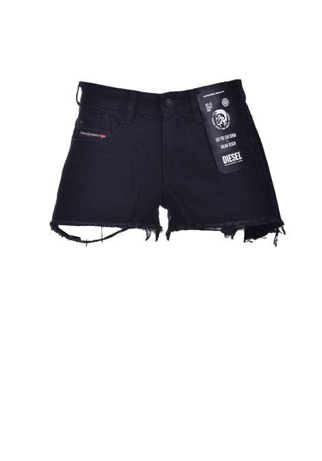 De-Rifty Shorts in denim nero DIESEL | Shorts | 00SQQ3 0ABBV02