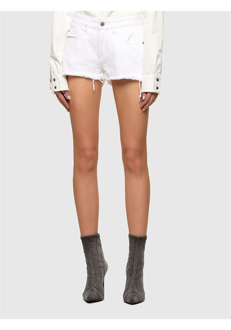 De-Rifty Shorts in denim bianco DIESEL | Shorts | 00SQQ3 0ABBY01
