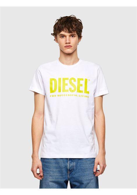 T-shirt in jersey di cotone con logo DIESEL | T-shirt | 00SXED 0AAXJ100A