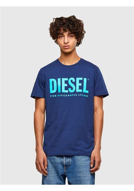 T-shirt in jersey di cotone con logo DIESEL | T-shirt | 00SXED 0AAXJ8MG