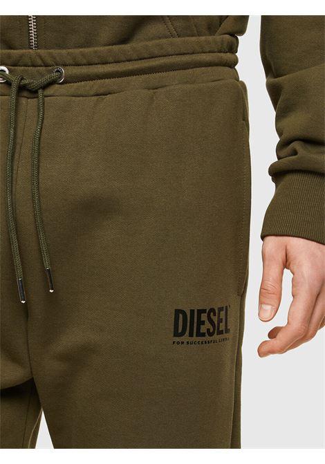 Pantaloni tuta verde militare con logo DIESEL | Pantaloni | 00SZLB 0BAWT51F