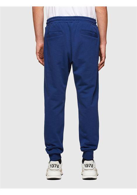 Pantaloni tuta blu con logo DIESEL | Pantaloni | 00SZLB 0BAWT8MG