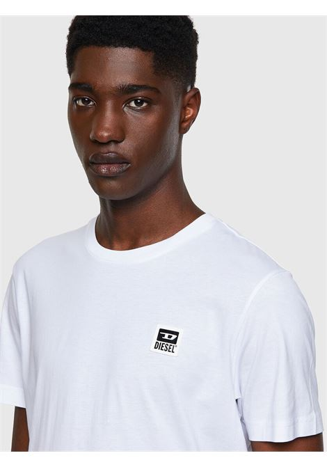 White T-shirt with D logo application DIESEL | T-shirt | A00356 0AAXJ100