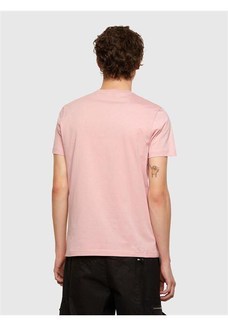 T-shirt cipria con applicazione logo D DIESEL | T-shirt | A00356 0AAXJ39Q
