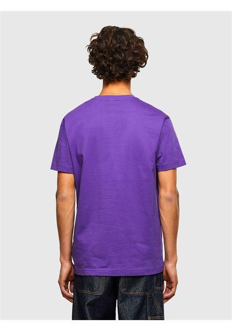 T-shirt viola con applicazione logo D DIESEL | T-shirt | A00356 0AAXJ652