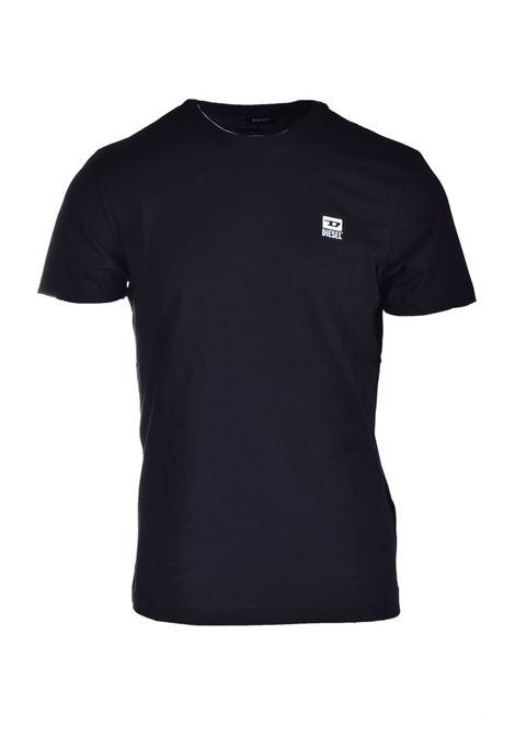 T-shirt nera con applicazione logo D DIESEL | T-shirt | A00356 0AAXJ900