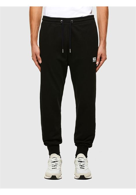 Sweatpants in black cotton blend DIESEL | Pants | A01124 0HAYT9XX