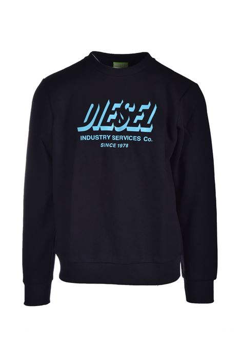 Felpa Green Label con stampa del logo DIESEL | Felpe | A01802 0GRAL9XX