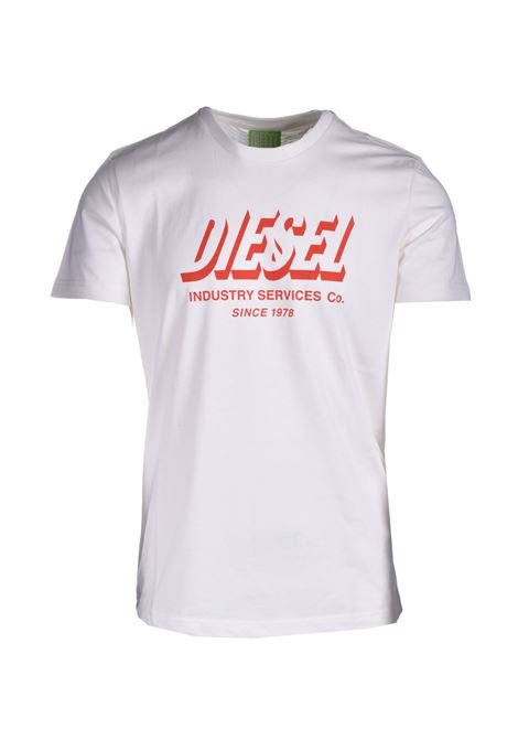 T-shirt Green Label con stampa del logo DIESEL | T-shirt | A01849 0GRAM129
