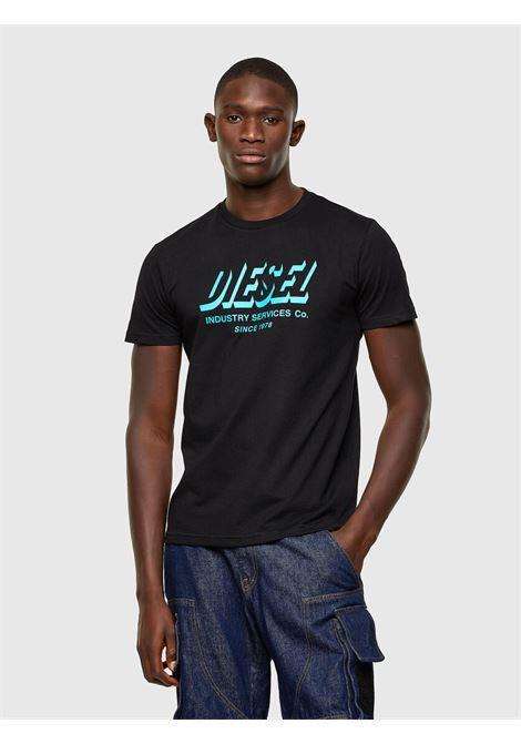 T-shirt Green Label con stampa del logo DIESEL | T-shirt | A01849 0GRAM9XX