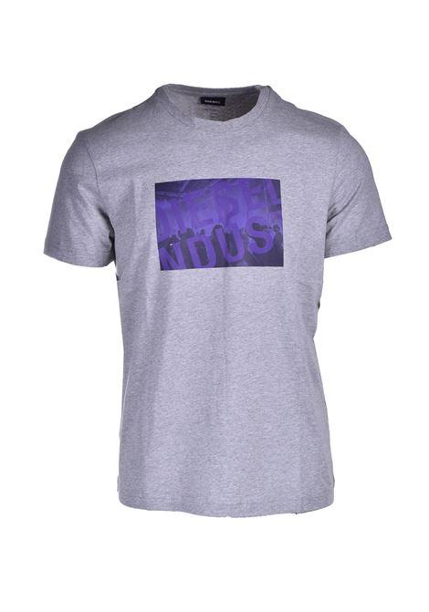 T-shirt con stampa del logo Diesel Industry DIESEL | T-shirt | A02070 0AAXJ9CB