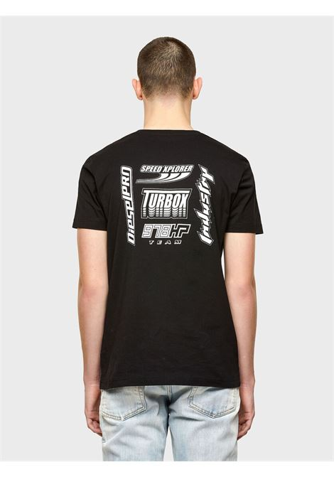 Green Label T-shirt with racer style prints DIESEL | T-shirt | A02381 0GRAI9XX