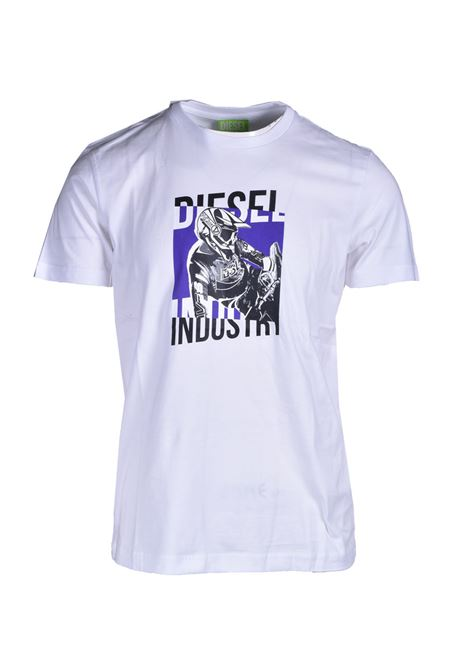 Green Label T-shirt with racer style prints DIESEL | T-shirt | A02397 0GREI100