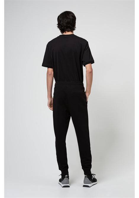 Cotton sweatpants with red logo patch HUGO | Pants | 50447963001