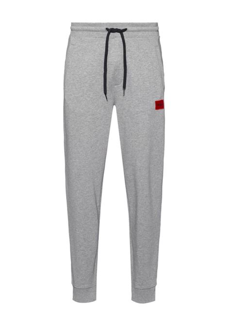 Cotton sweatpants with red logo patch HUGO | Pants | 50447963031