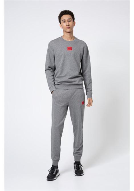 Pantaloni della tuta in cotone con toppa con logo rossa HUGO | Pantaloni | 50447963031
