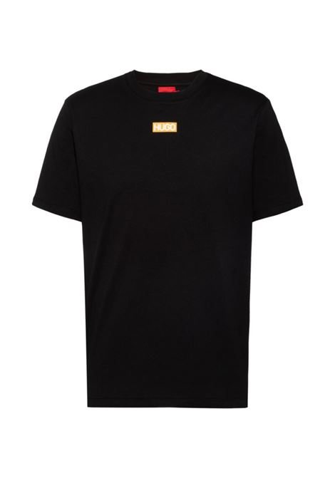 T-shirt regular fit in cotone biologico con logo al centro HUGO | T-shirt | 50448779001