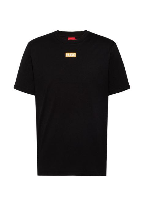 T-shirt regular fit in cotone biologico con logo al centro HUGO | Polo | 50448861001