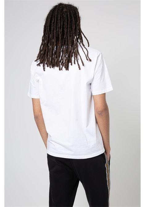 T-shirt regular fit in cotone biologico con logo al centro HUGO | Polo | 50448861100