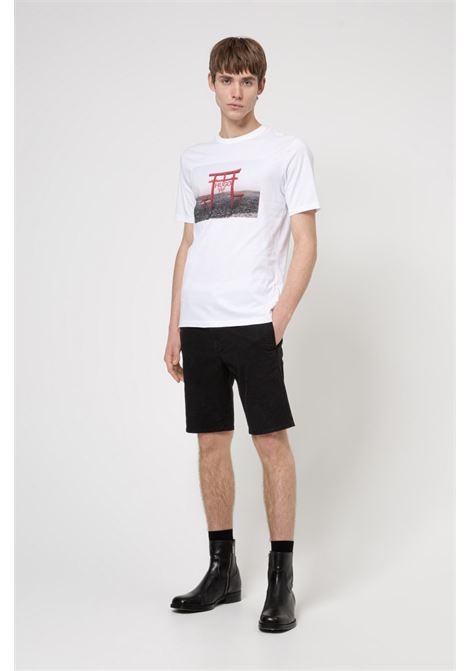 Slim fit cotton jersey T-shirt with graphics inspired by the theme of the collection HUGO | T-shirt | 50448967100