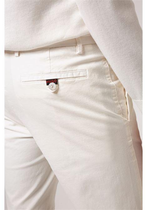 Bermuda slim fit in gabardine di cotone elasticizzato HUGO | Shorts | 50449556104