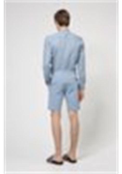 Slim fit Bermuda shorts in stretch cotton gabardine HUGO | Shorts | 50449556428