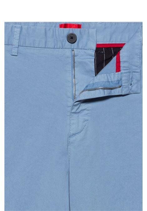 Bermuda slim fit in gabardine di cotone elasticizzato HUGO | Shorts | 50449556428