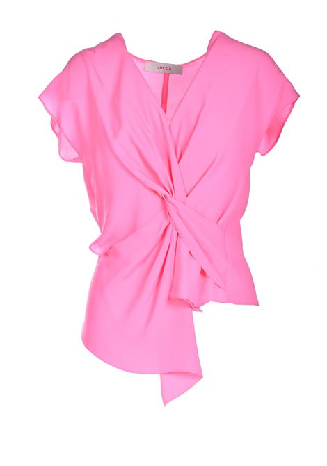 Top in crepe di seta rosa JUCCA | Top & T-shirt | J33120071701