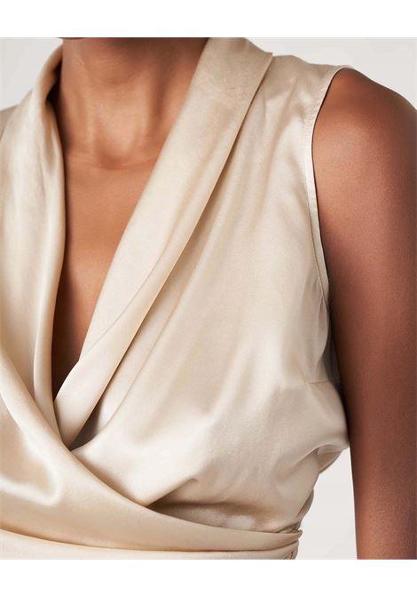 Top in raso di seta lucido con fusciacca regolabile JUCCA | Tops | J3312017/L061
