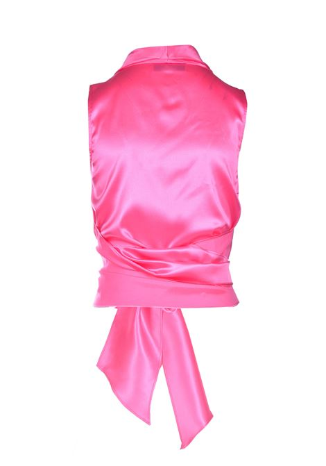 Shiny silk satin top with adjustable sash JUCCA | Tops | J3312017/L1701