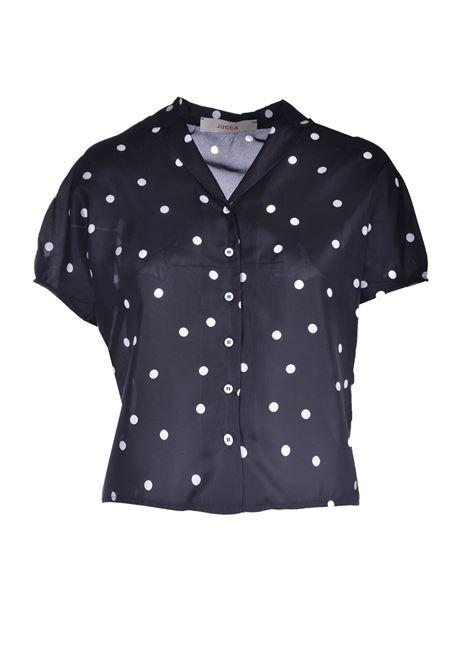 Camicia corta in pura seta a pois JUCCA | Camicie | J3312023003