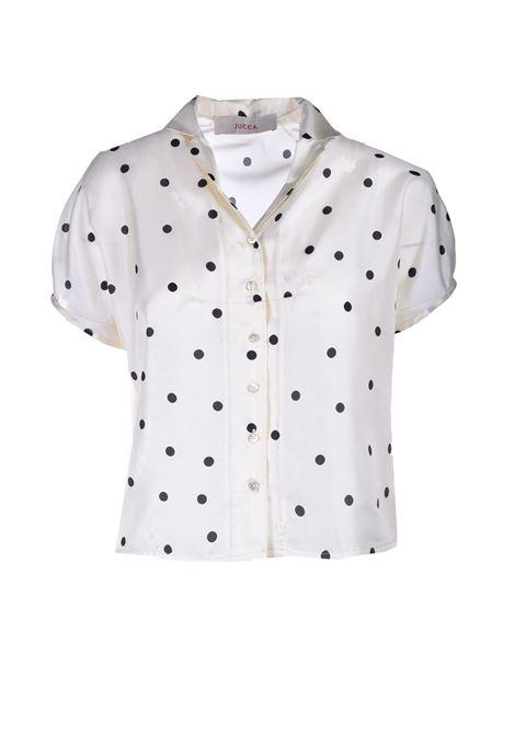 Camicia corta in pura seta a pois JUCCA | Camicie | J3312023061
