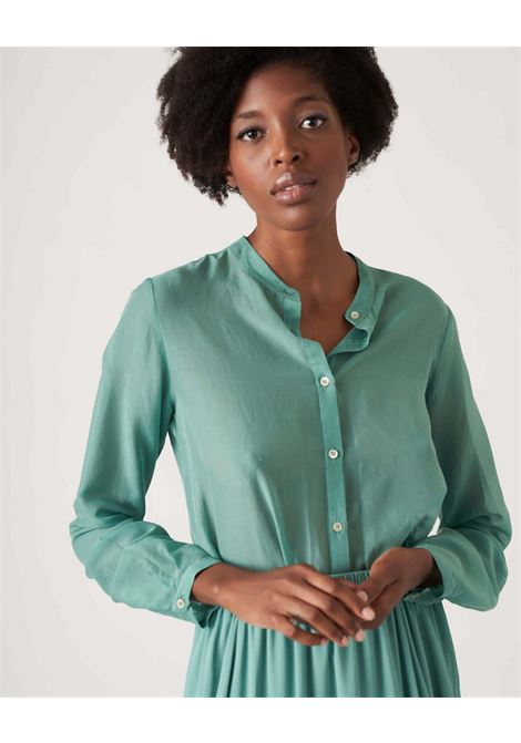 Shirt in cotton muslin and aurora silk JUCCA | Shirts | J3312113314