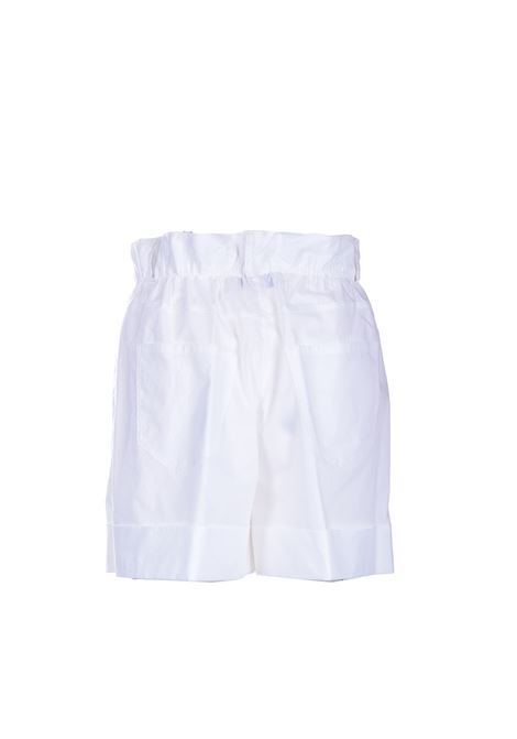 White high-waisted cotton shorts JUCCA | Shorts | J3314012001