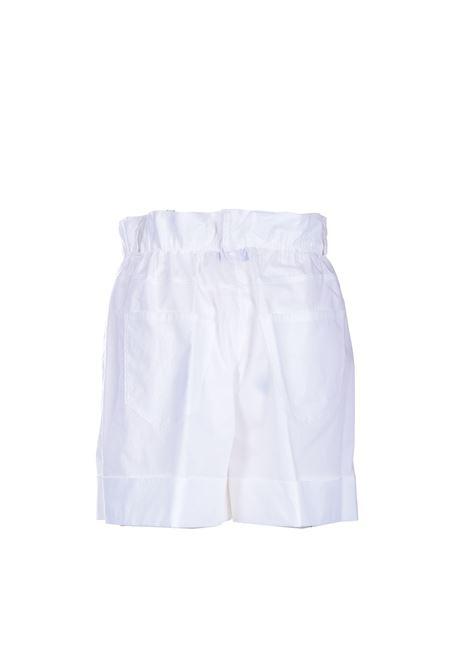 Short in cotone a vita alta bianco JUCCA | Shorts | J3314012001