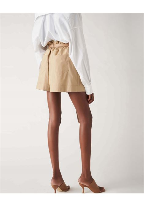 Beige high-waisted cotton shorts JUCCA | Shorts | J33140121159