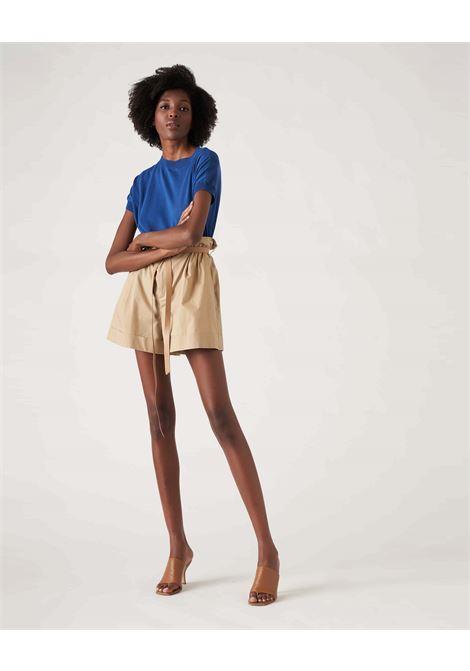 Beige high-waisted cotton shorts JUCCA | Shorts | J33140121159