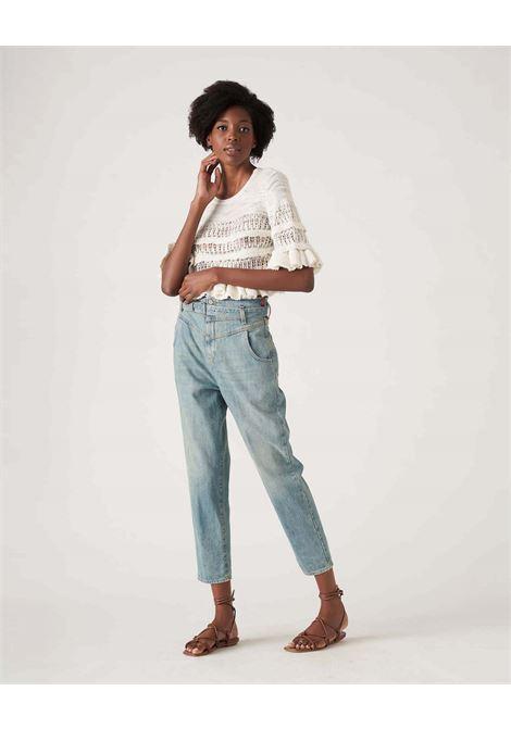 Jeans vita alta con cintura light bleach JUCCA | Jeans | J3314016/200/L002999