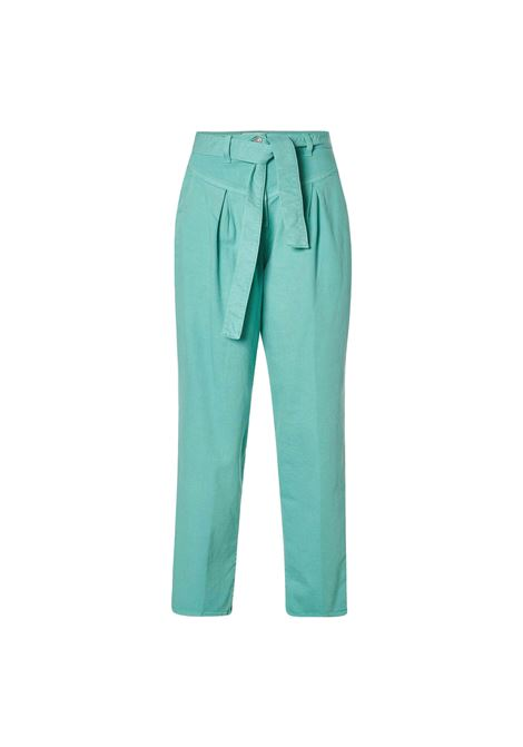 High waisted aurora denim trousers with sash belt JUCCA | Pants | J3314019314