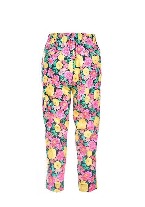 Capri trousers in cotton floral pattern JUCCA | Pants | J3314022003