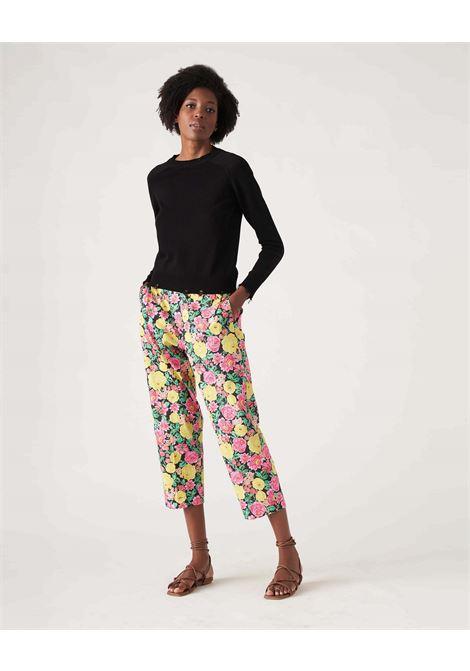 Pantalone capri in cotone fantasia a fiori JUCCA | Pantaloni | J3314022003