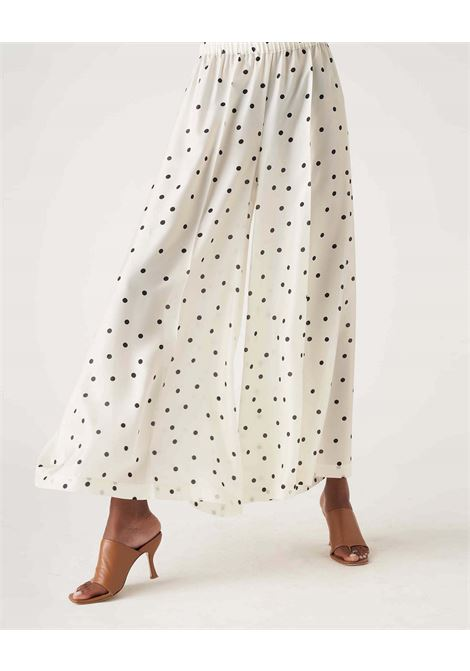 Wide trousers in light silk with polka dots JUCCA | Pants | J3314027061