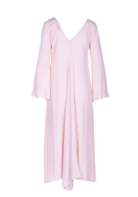 Abito tunica con scollo a V in crepe rosa pallido JUCCA | Vestiti | J3317010358