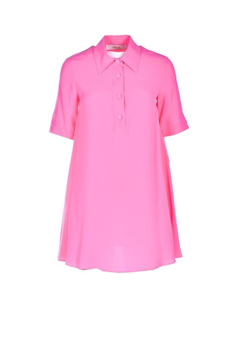 Mini polo dress in bright pink crepe JUCCA | Dresses | J33170111701
