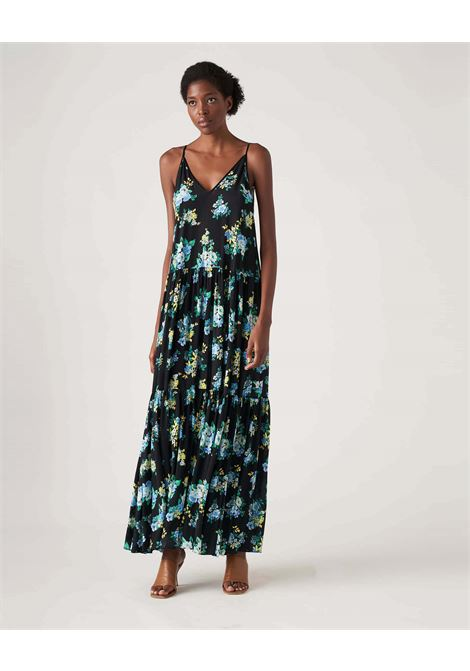 Long dress with floral patterned crepe flounces JUCCA |  | J3317020003
