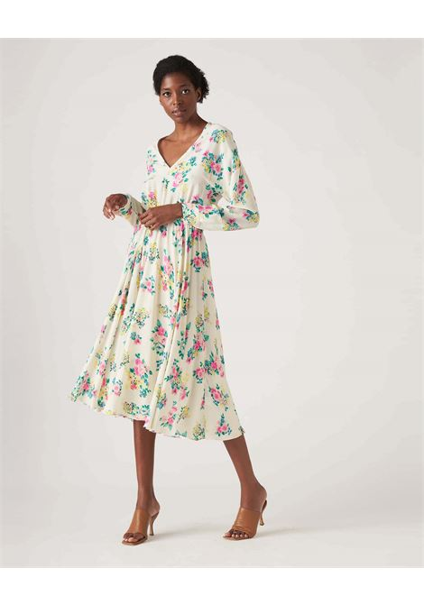 Wide dress in floral patterned crepe JUCCA |  | J3317022061