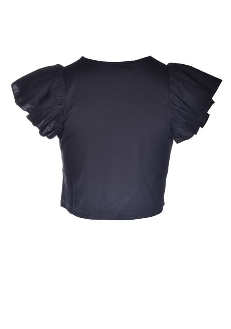 Cotton T-shirt with poplin cap sleeves JUCCA | T-shirt | J3318010003