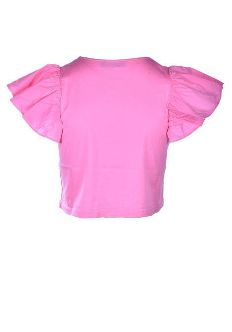 T-shirt in cotone con manica aletta in popeline JUCCA | T-shirt | J33180101701